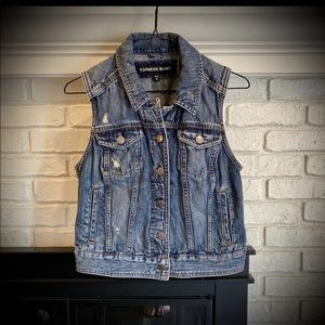 Express Jeans Denim Vest Medium